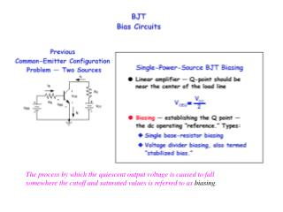The process by which the quiescent output voltage is caused to fall