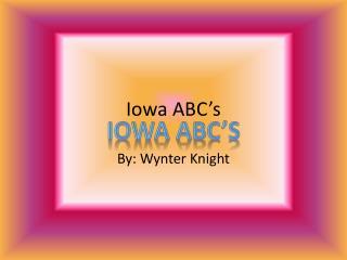Iowa ABC's