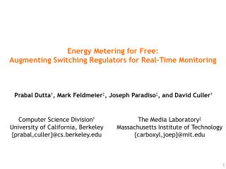 Energy Metering for Free: Augmenting Switching Regulators for Real-Time Monitoring