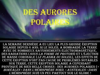 des aurores polaires