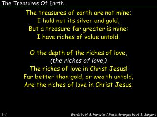 The Treasures Of Earth