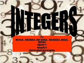 By Nicole , Bhumika, Natasha , Niharika, Mark, Ronak  Group 6 Grade 6 Vidya Niketan School