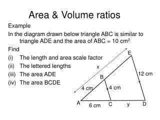 Area & Volume ratios