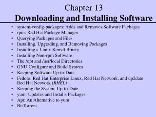 Chapter 13 Downloading and Installing Software