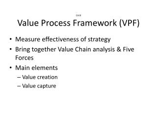 CH 8 Value Process Framework (VPF)