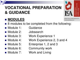 VOCATIONAL PREPARATION  & GUIDANCE