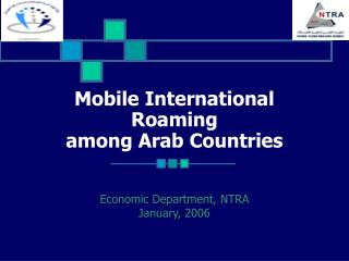Mobile International Roaming  among Arab Countries