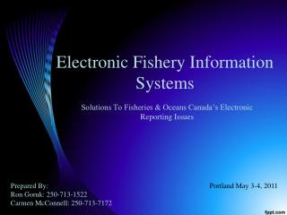 Electronic Fishery Information Systems