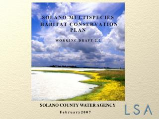 SOLANO COUNTY WATER AGENCY