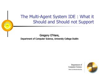 The Multi-Agent System IDE : What it Should and Should not Support