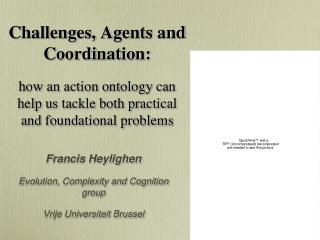 Francis Heylighen Evolution, Complexity and Cognition group Vrije Universiteit Brussel