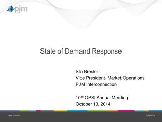 State of Demand Response
