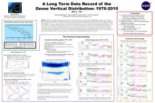 A Long Term Data Record of the Ozone Vertical Distribution: 1970-2010  IN21A – 1402 by