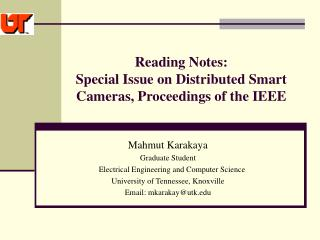 Reading Notes:  Special Issue on Distributed Smart Cameras, Proceedings of the IEEE