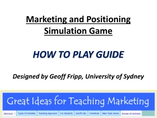 The Marketing Game: What is It