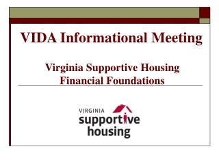VIDA Informational Meeting
