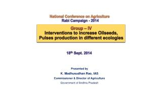 National Conference on Agriculture Rabi Campaign -  2014