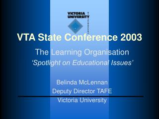 VTA State Conference 2003