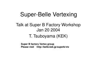 Super-Belle Vertexing