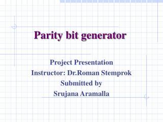 Parity bit generator