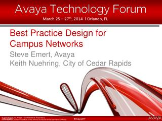 Best Practice Design for  Campus Networks