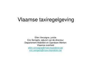 Vlaamse taxiregelgeving