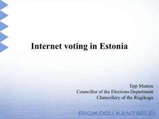 Internet  voting in Estonia