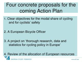 Four concrete proposals for the coming Action Plan