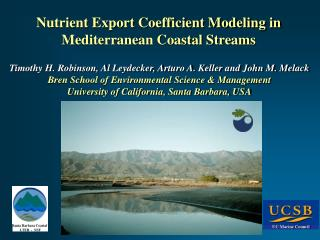 Nutrient Export Coefficient Modeling in  Mediterranean Coastal Streams