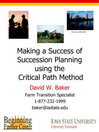 Making a Success of Succession Planning using the  Critical Path Method