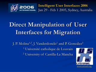 Direct Manipulation of User Interfaces for Migration