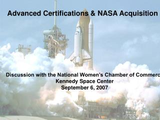 Advanced Certifications & NASA Acquisition