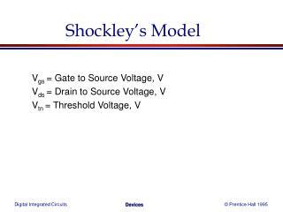 Shockley�s Model