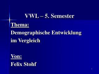 VWL – 5. Semester