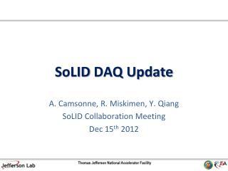 SoLID  DAQ Update