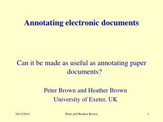 Annotating electronic documents