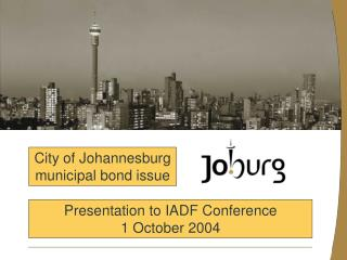 Presentation to IADF Conference 1 October 2004