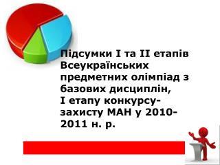 Підсумки І та ІІ етапів Всеукраїнських предметних олімпіад з базових дисциплін,