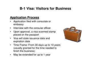 B-1 Visa: Visitors for Business