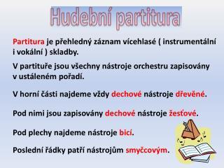 Hudební partitura