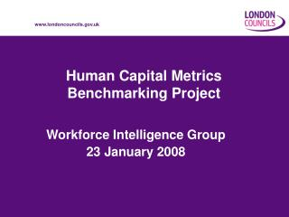 Human Capital Metrics Benchmarking Project