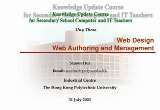 Web Design Web Authoring and Management