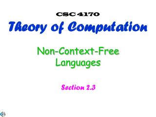 Non-Context-Free Languages