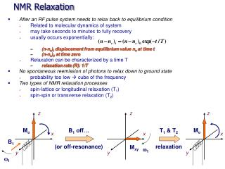 NMR Relaxation