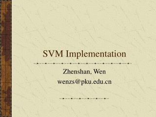 SVM Implementation