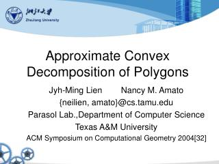 Approximate Convex Decomposition of Polygons