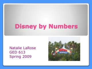 Disney by Numbers