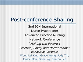 Post-conference Sharing