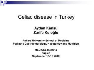 Celiac disease in Turkey