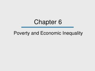 Poverty and Economic Inequality